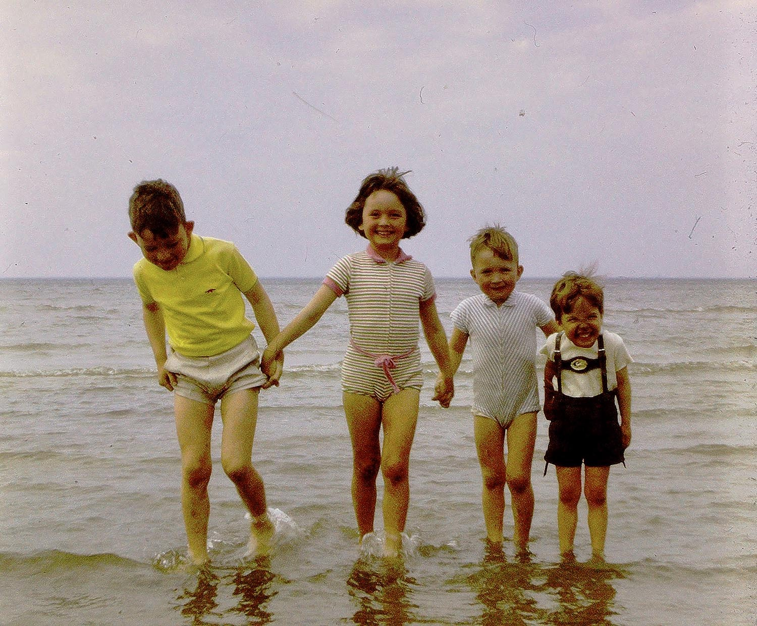 Mhairi with her family as a young child.